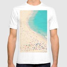 beach love III - Nazare White Mens Fitted Tee MEDIUM