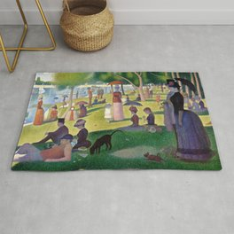 "Georges Seurat ""A Sunday Afternoon on the Island of La Grande Jatte"" Rug"