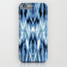 Blue Satin Shibori Argyle iPhone Case