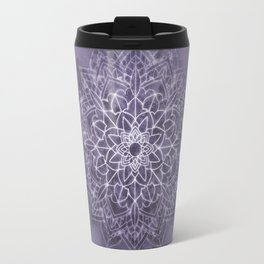 Vintage Lavender Watercolor Mandala Travel Mug