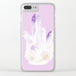 Precious Amethyst Clear iPhone Case