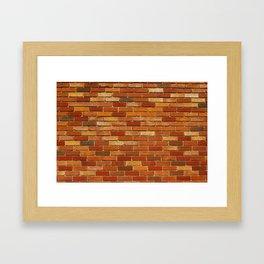 Briques Framed Art Print