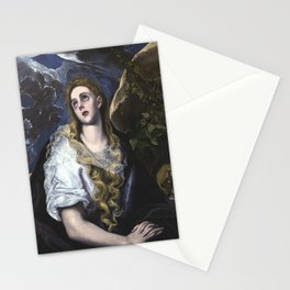 El Greco -  Mary Magdalen in Penitence Stationery Cards
