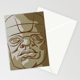 Olmeca Head Stationery Cards