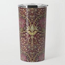 William Morris,Art Nouveau,Vintage pattern, floral victorian pattern, Travel Mug