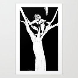 Boy in Tree Art Print