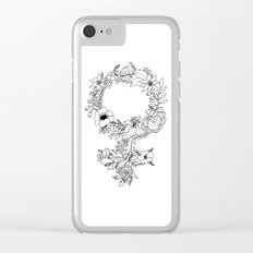 Feminist Flower  2.0 Clear iPhone Case
