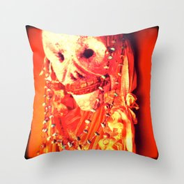 Day of the Dead Chroma Hot Throw Pillow
