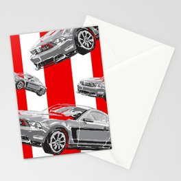 Mustang Digital Painting - Greyscale Stationery Cards