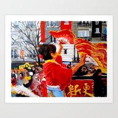 Chinese New Year in Paris Art Print