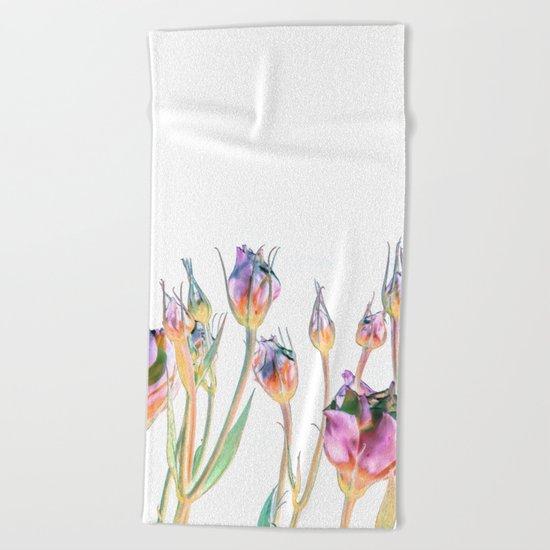 Fantasy Florals #society6 #decor #buyart Beach Towel