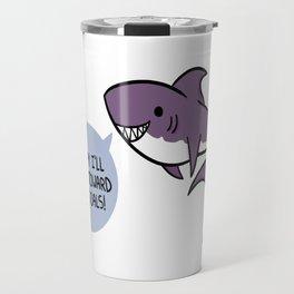 Purple shark. Travel Mug