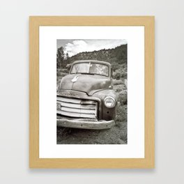 Strange characters in lonely places Framed Art Print
