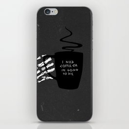 Black Coffee iPhone Skin