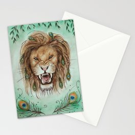 Peacock lion head Stationery Cards
