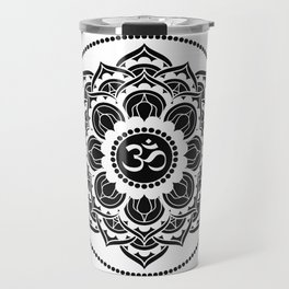 Black and White Mandala | Flower Mandhala Travel Mug