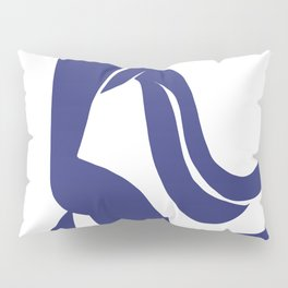 Matisse Cut Out Figure #4 Deep Blue Pillow Sham