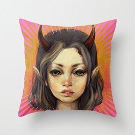 Monster Girl #1  Throw Pillow