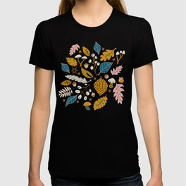 Fall Folige in Blue and Gold T-shirt