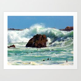 """Breakers at Gordon's Bay (iv)"" by ICA PAVON Art Print"