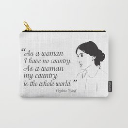 Virginia Woolf Feminist Quote Carry-All Pouch