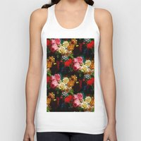 baroque Tank Tops featuring baroque flora by arielle morris