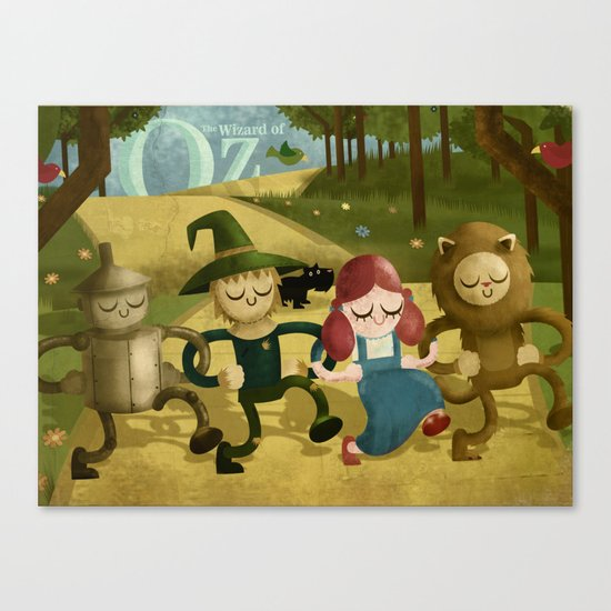 Wizard of Oz fan art Canvas Print