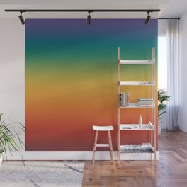 Colorful Gradient Pattern Abstract Rainbow Wall Mural