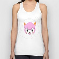 animal crossing Tank Tops featuring Animal Crossing Reese by ZiggyPasta