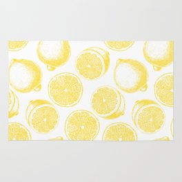 Hand drawn lemon pattern Rug