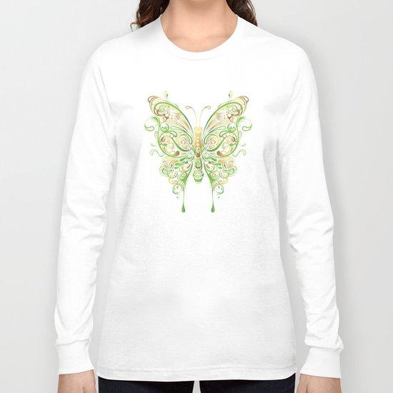 Butterfly Ornamental Long Sleeve T-shirt