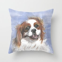 Holly by the sea Throw Pillow