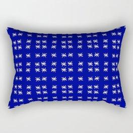 stars 73 -blue and white Rectangular Pillow