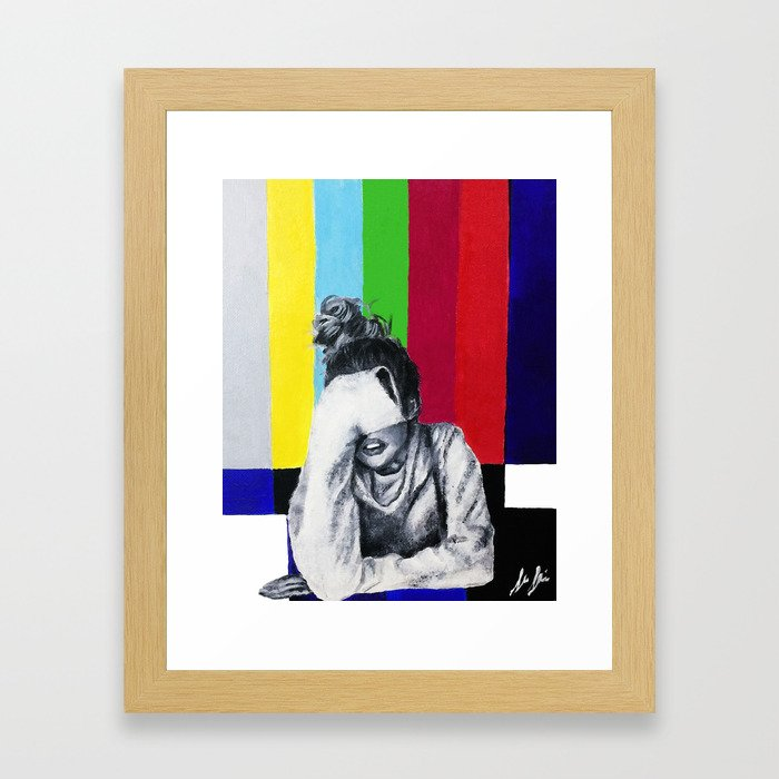 Interference Framed Art Print