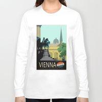 vienna Long Sleeve T-shirts featuring Visit Vienna by Duke Dastardly
