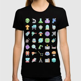 CUTE SCIENCE / SPACE / SCI-FI PATTERN T-shirt