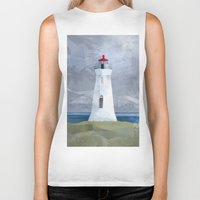 lighthouse Biker Tanks featuring Lighthouse by EtOfficina