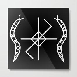 Black Serpent Sigil Metal Print