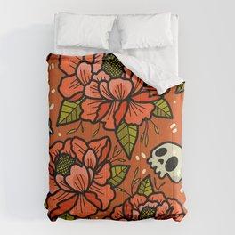 Subtle skulls~ orange tones Comforters