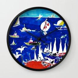 The Marina, Southport, Qld. AUSTRALIA Wall Clock
