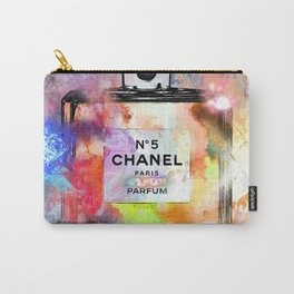 No 5 Painted Carry-All Pouch