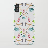 camping iPhone & iPod Cases featuring Camping by Whimsy Milieu