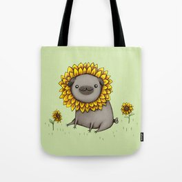 Pugflower Tote Bag