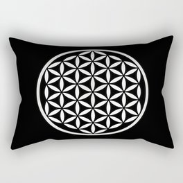 Flower of Life Yin Yang Rectangular Pillow