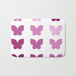 Butterflies in Purple Ombre Bath Mat