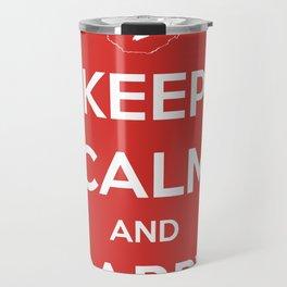 Keep Calm And Carry Luggage Travel Mug