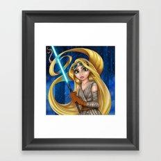 REY-punzel Framed Art Print