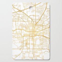 TALLAHASSEE FLORIDA CITY STREET MAP ART Cutting Board