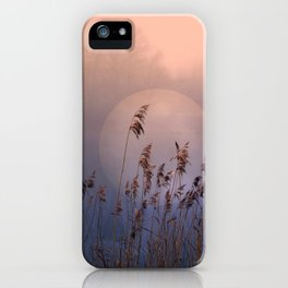 Lake with heart iPhone Case