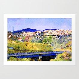 Catanzaro: view of the city with bridges Art Print